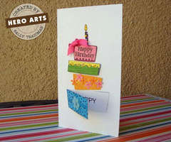 Stacked Presents Happy Birthday Card by Sally Traidman