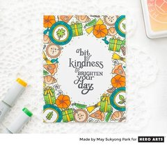 Kindness Card with Fall Themed Background