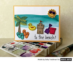 To the Beach! by Sally Traidman for Hero Arts