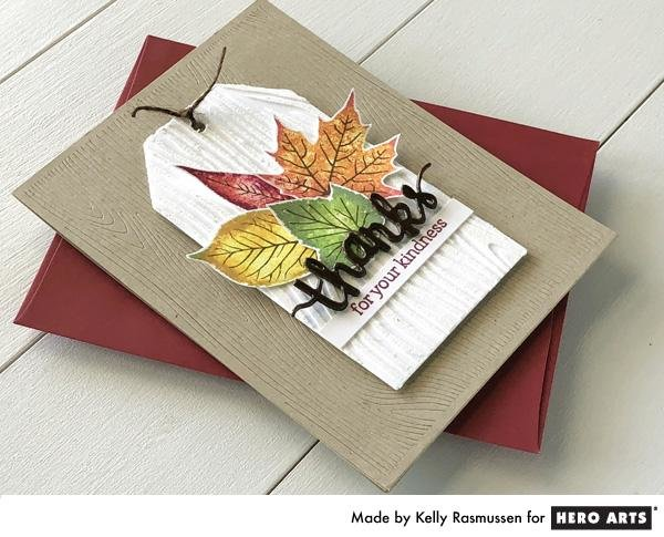WOODGRAIN TEXTURE + FALL LEAVES by Kelly Rasmussen