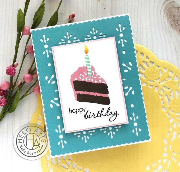 Birthday Cake Layering Card