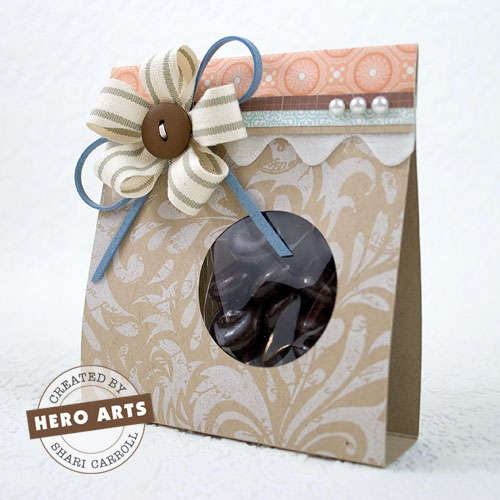Ribbon Flower Goody Bag by Shari Carroll