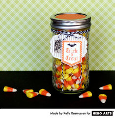 Trick-or-Treat Candy Jar  By Kelly Rasmussen