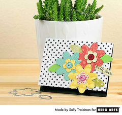 Black and White Plus Flowers  By Sally Traidman