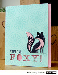Foxy Shaker Card  By Lucy Abrams