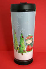 Holiday Travel Mug By Laura Griffin