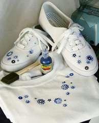 Festive Shoes and Seasonal T-Shirt by Nancy Taylor