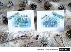 Destination Christmas Cards by Libby Hickson for Hero Arts