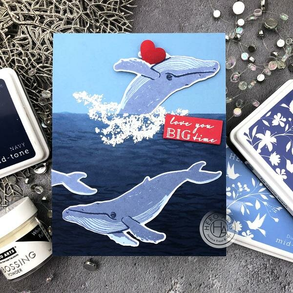 Love You Big Time Whale Card