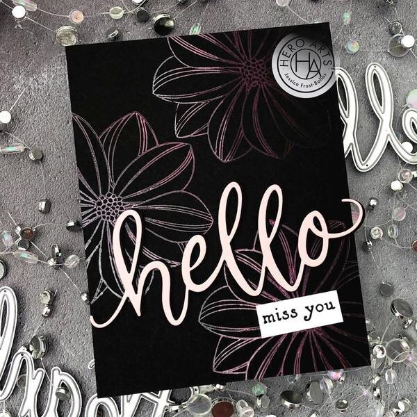 "Brayered Background ""Hello"" Card"