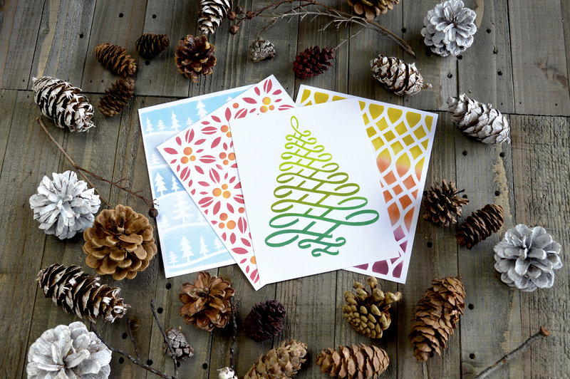 New Holiday Stencils from Hero Arts