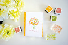 Color Layering Bouquet Card by Lucy Abrams
