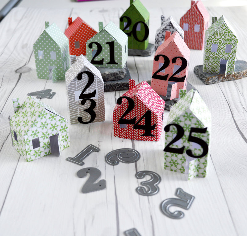 Create Your Own Tiny Houses for Advent Calendars