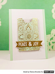 Peace & Joy Gift Card Holder by Cheiron Brandon for Hero Arts