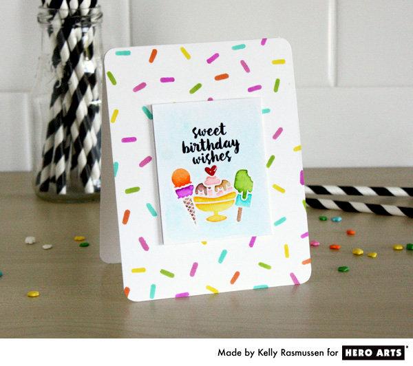 Birthday Sprinkles by Kelly Rasmussen for Hero Arts