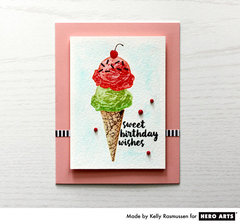 Sweet Birthday Wishes by Kelly Rasmussen for Hero Arts