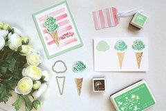Color Layering Ice Cream Card by Tami Hartley