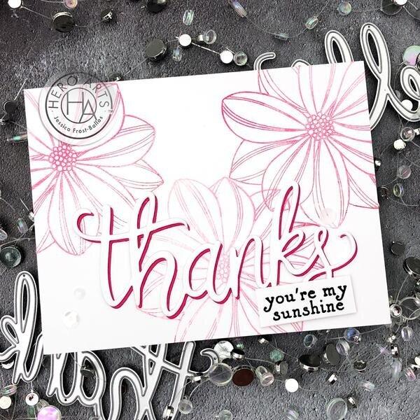 "Brayed Background ""Thanks"" Card"