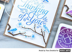 Quick Monochromatic Thinking of You Cards by Yana Smakula featuring Ombre Ink
