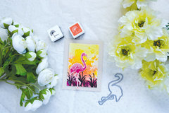 Color Layering Flamingo Card by Yana Smakula