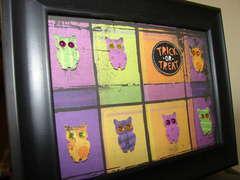 Trick Or Treat owl framed art
