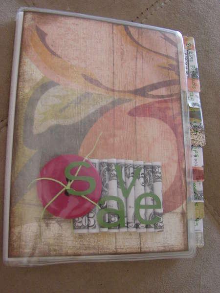 Altered Photo Album into a Coupon Organizer