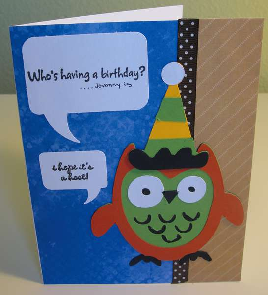 Owl b-day card