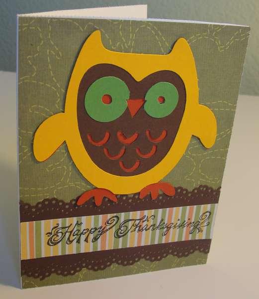 Owl Thanksgiving card