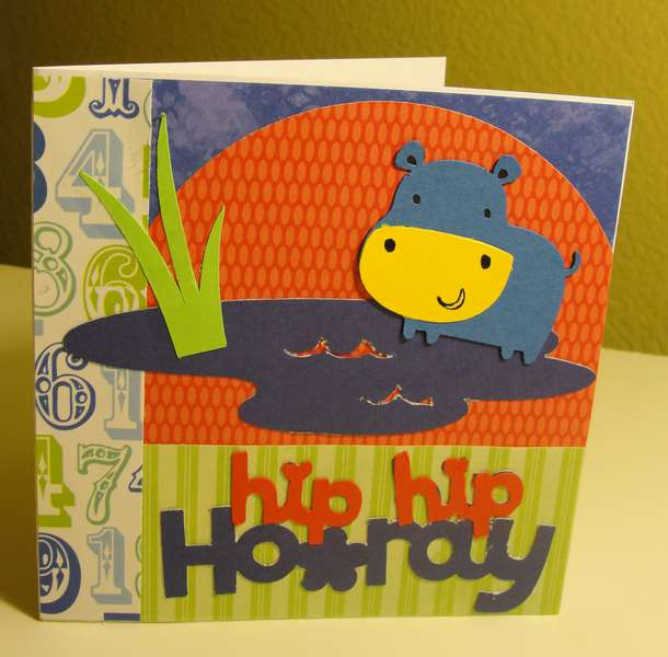 Hip hip hooray b-day card