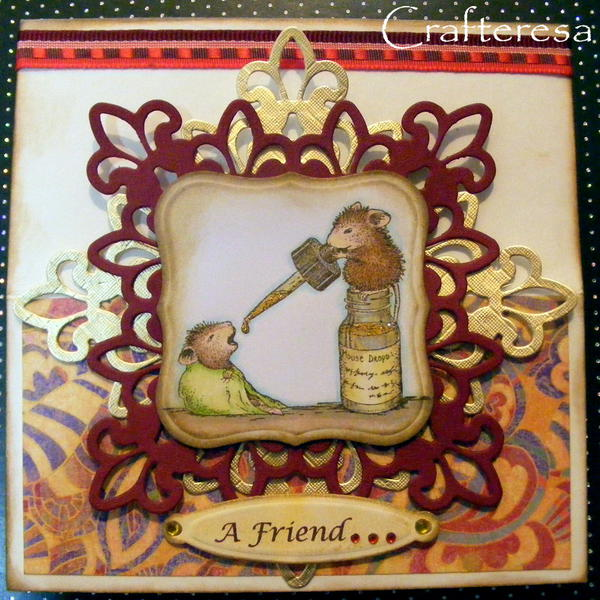 House Mouse easel card very cute a friend loves at all times