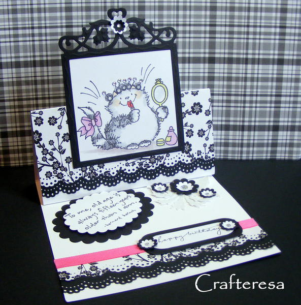 penny black primp cat easel card