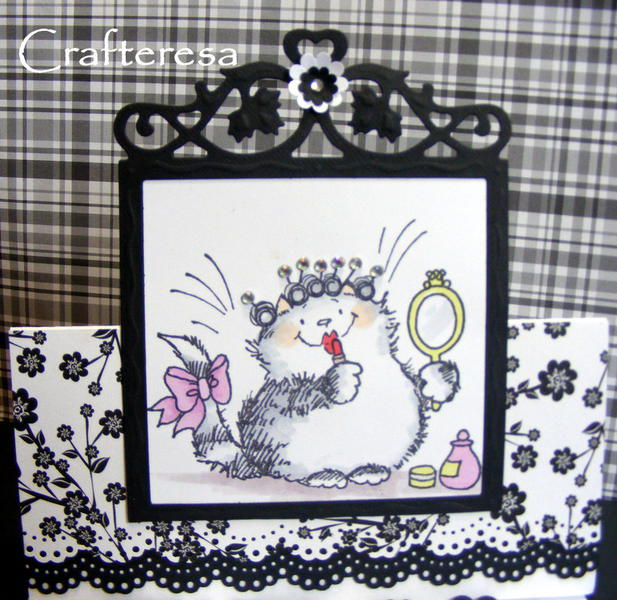 penny black primp cat easel card
