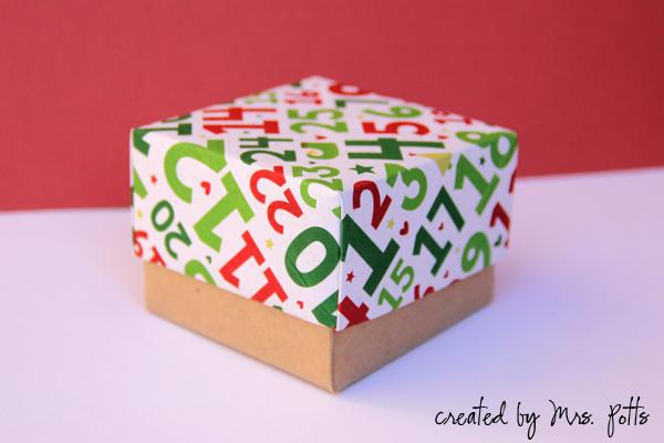 Origami Christmas Box no 2