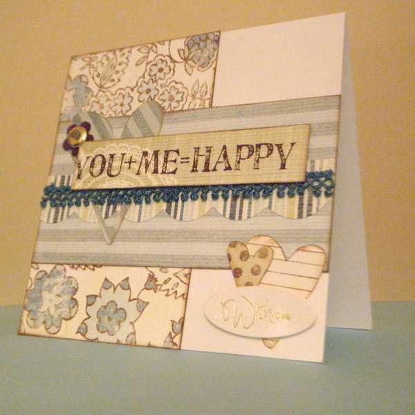 Blue Card Set ~ You + Me = Happy