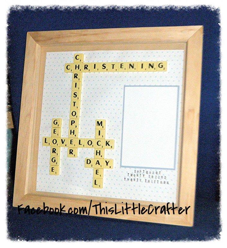 Scrabble Art ~ Christening Day