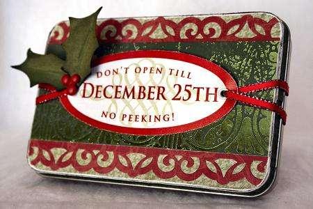 Gift Card Tin - Little Yellow Bicycle 'Christmas Magic'