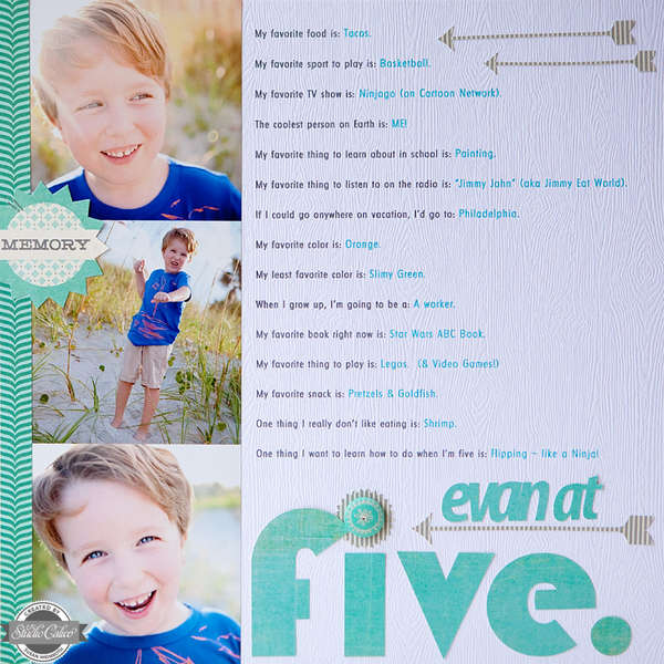 Evan at Five {STUDIO CALICO AUGUST KIT}