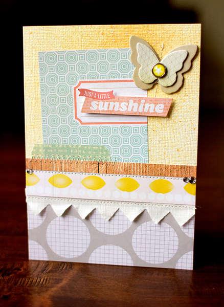 Sunshine Card {Studio Calico Classic Calico 2!}