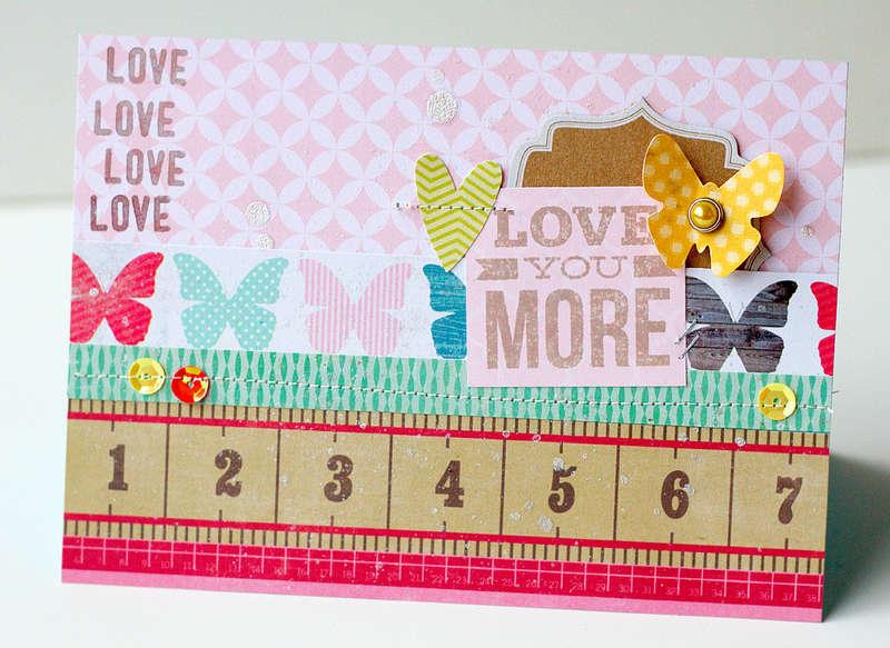 Love you more card {Studio Calico April Kit}