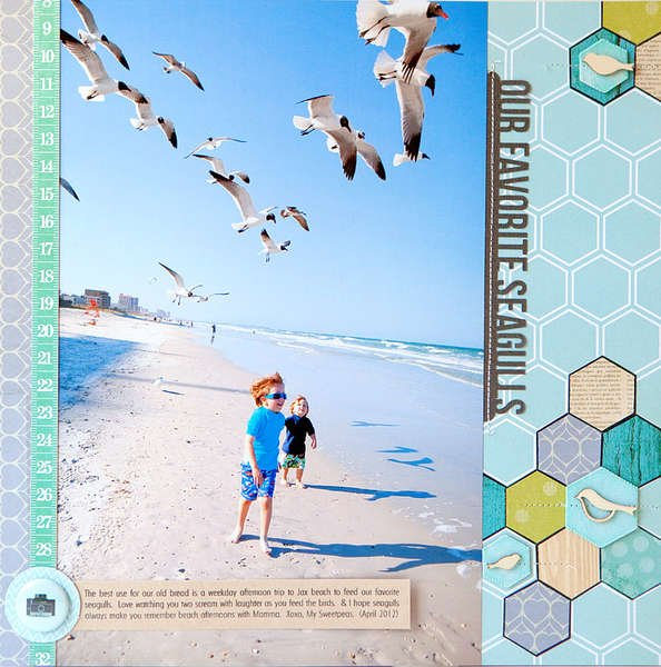 Our Favorite Seagulls {STUDIO CALICO MAY KIT}