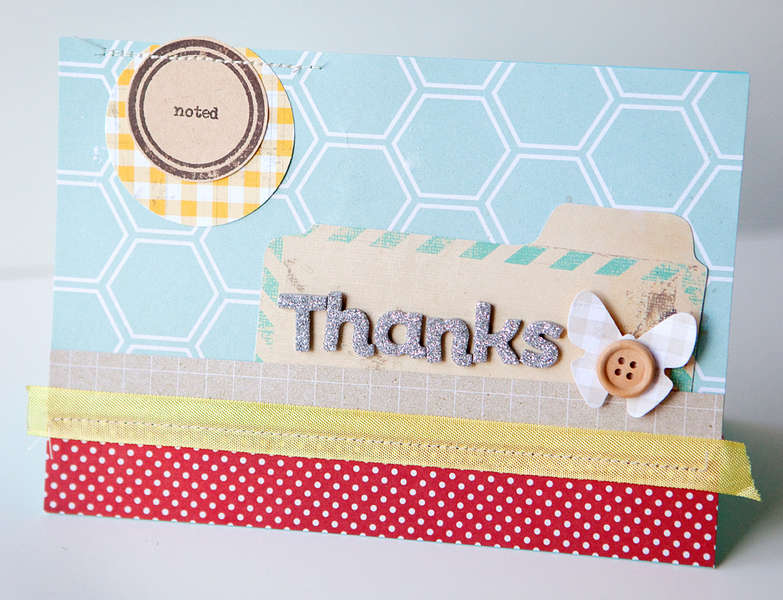 Thanks Noted Card {Studio Calico MAY Kit!}