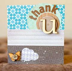 Thank U Card {Studio Calico Memoir & Classic Calico}