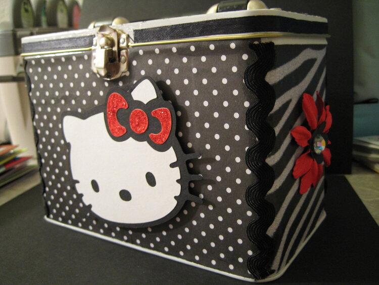 Hello Kitty altered Tin box