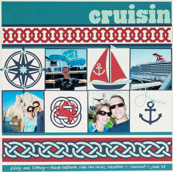 """Cruisin"" Layout *Lifestyle Crafts/QuicKutz*"
