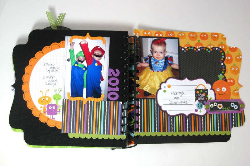 Halloween Costume Mini Album (Page 9-10) *Doodlebug*