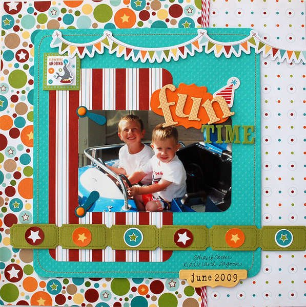 """Fun Time"" Layout *Imaginisce for Becky Fleck's PageMaps and Spellbinders*"