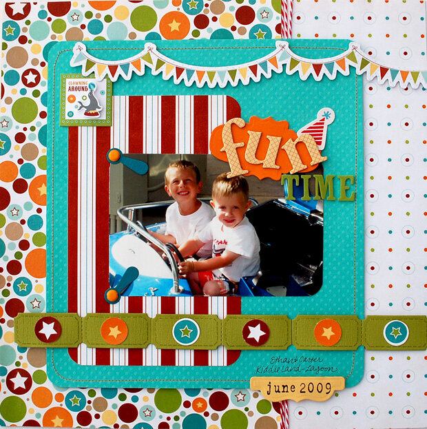 """""""Fun Time"""" Layout *Imaginisce for Becky Fleck's PageMaps and Spellbinders*"""