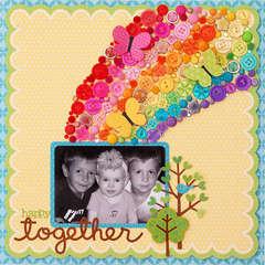 """""""Happy Together"""" Layout *Doodlebug Design*"""