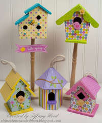 Hello Spring Birdhouses *Doodlebug Design*