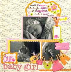 Our Baby Girl Layout *Doodlebug Design*
